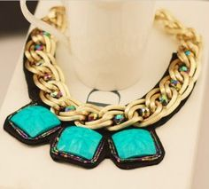 women fashion - accesorios - collares - - Buy Fashion wholesale Dresses, Shoes, Accessories, Fashion Wholesale from China - Blue Necklace, Collar Necklace, Turquoise Necklace, Turquoise Pendant, Gold Pendant, Fashion Necklace, Fashion Jewelry, Maxi Collar, Gold Chains