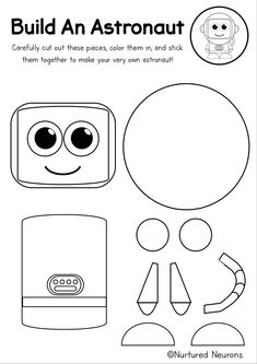 Make an astronaut with this super cute space craft! This cut and paste craft is great for preschool and kindergarten children because it's so easy to do. It's also a super way to develop fine motor skills! Grab the printable astronaut templates over at Nurtured Neurons! #space #spacecrafts #spacetheme #preschoolcrafts #kindergarten #spacelearning #cutandpaste #easycrafts #kidscrafts Space Activities, Toddler Activities, Learning Activities, Parenting Toddlers, Parenting Tips, Astronaut Craft, Easy Crafts, Crafts For Kids, Plants