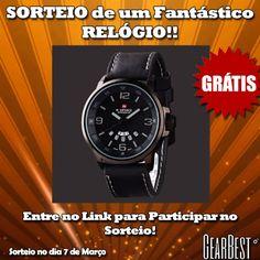 Sorteio de um Fantástico Relógio na GearBest!