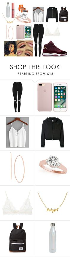 """"""""""" by beautifullywild ❤ liked on Polyvore featuring Topshop, NIKE, Anine Bing, Herschel Supply Co., S'well, NYX and Gatorade"""