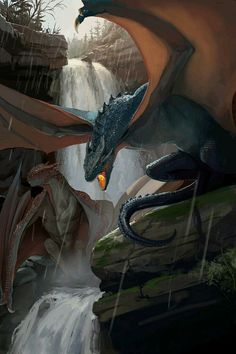 The Voice Of The Night : The Terrifying And Dark Fantasy Art Of Michael MacRae - Creative Anchor Dark Fantasy Art, Fantasy Artwork, Fantasy World, Magical Creatures, Fantasy Creatures, Beautiful Creatures, Dragon Medieval, Cool Dragons, Dragon Artwork