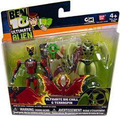 Amazon Ben 10 Alien Creation Chamber Mini Figure 2Pack Ultimate Big Chill Terraspin Toys GamesBig