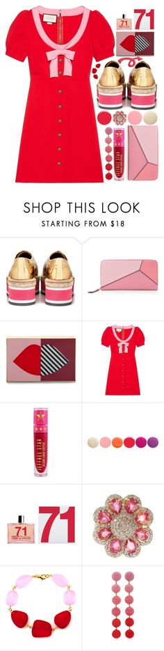 """""""One more for the road"""" by sunnydays4everkh ❤ liked on Polyvore featuring Prada, Loewe, Lulu Guinness, Gucci, Jeffree Star, Deborah Lippmann, Vanhi and Rebecca de Ravenel"""