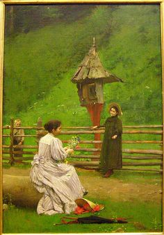 Dominik Skutecký, At the Summer House (Špania valley), 1895 Art Nouveau, Victorian Life, Fauvism, Hungary, Impressionism, Photo And Video, History, Clothing, Summer