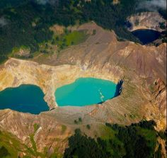 The Tri-Colored Crater Lakes of Kelimutu, Indonesia