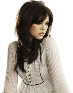 Beautiful brunette hair color and cut!