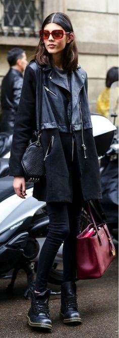 Milan Model Offduty Street Style 2014