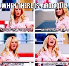 When there is pop quiz high school musical