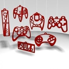 """These would actually be cute as cut-outs for a """"gamer's"""" room."""