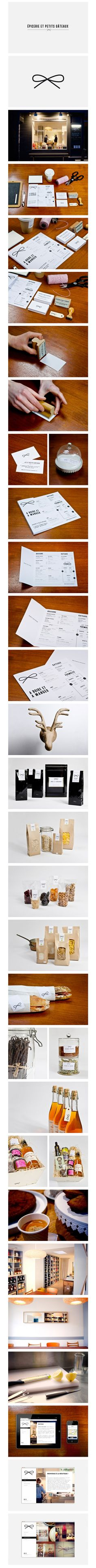 Epicerie et Petits Gâteaux | #stationary #corporate #design #corporatedesign #logo #identity #branding #marketing <<< repinned by an #advertising agency from #Hamburg / #Germany - www.BlickeDeeler.de