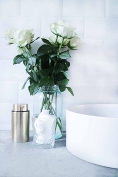 Industrial Modern Bathroom White Brass Gold Concrete Tiles
