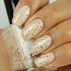 Hare Polish Let Them Eat Cake over OPI Funny Bunny