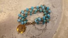 Turquoise Aqua and Teal Rosary Chain by BerthaLouiseDesigns Aqua, Teal, Shades Of Turquoise, Shabby Chic, Boho Chic, Antique Gold, Wedding Jewelry, Turquoise Bracelet, Jewelery