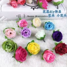 Cheap handmade diy materials simulation azalea rose paper flowers small tea bud artificial flowers rose small flowers wedding flower head artificial flowers silk flower decoration mightylinksfo