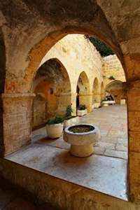 Picture of Courtyard at Mount Zion, Jerusalem, Israel stock photo, images and stock photography. Saint Tropez, Santorini, Monuments, Heiliges Land, Visit Israel, Israel Palestine, Promised Land, Early Christian, Holy Land