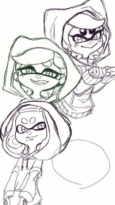 Splatoon Inkling Coloring Pages Things I Love Pinterest