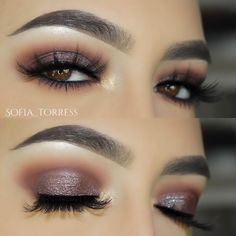 purple / taupe shimmery smokey eye @sofia_torres. makeup