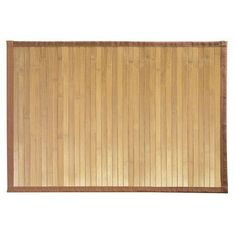"""Bamboo Floor Mat, 17"""" by 24"""" Natural Bamboo Exotic Non-Skid Water Resistant New"""