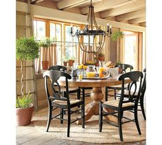 Sumner Pedestal Table & Napoleon® Chair Set | Pottery Barn
