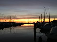 Sunrise at Kastrup Gammel Havn, Copenhagen.
