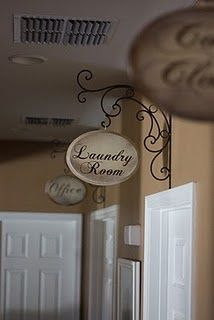 A fun little sign to define each room of your home