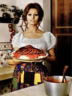 Sophia Loren Cooking