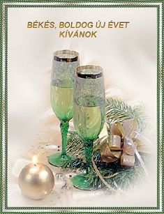 Újévi köszöntő Happy New Year, Merry, Chakra, Champagne, Baba, Inspiration, Glasses, Glass, Biblical Inspiration