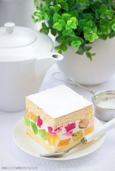 Galaretkowiec (przepis na tanie ciasto) Sweets Recipes, Easter Recipes, Cookie Recipes, Pastry Shop, Polish Recipes, Foods With Gluten, Sweet Cakes, Food Cakes, Homemade Cakes