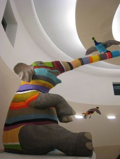 Crochet artist Elaine Bradford.