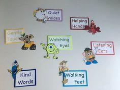 Classroom Rules Version 2 Classroom Rules Version 2 The post Classroom Rules Version 2 appeared first on Toddlers Ideas. Preschool Classroom Themes, Preschool Rooms, Disney Classroom, Classroom Board, Classroom Setup, Classroom Displays, Music Classroom, Future Classroom, Classroom Organization