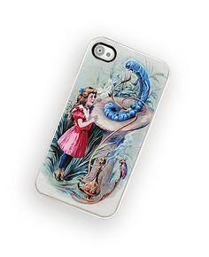 iPhone Case Vintage Alice in Wonderland iPhone Hard Case / Fits Iphone 4, 4S. $18.00, via Etsy.