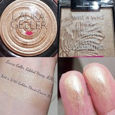 "3,679 Likes, 41 Comments - Vanessa (@vanedb) on Instagram: ""I finally got 3 of the new Wet n Wild highlighters. Golden Flower Crown is a perfect Gilded Honey…"""