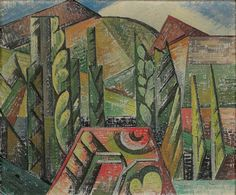 Landscape at Ceret  :   Auguste Herbin  :  circa 1913…