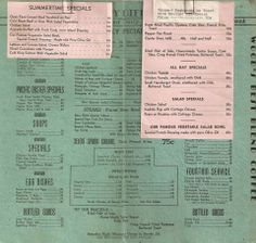 VINTAGE MENUS & MATCHBOOKS