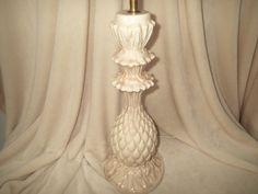 Hollywood Regency Marble glaze ceramic Pineapple table lamp, tall and beautiful, versatile style, Mid Century, Beach, Tiki, Hawaiian