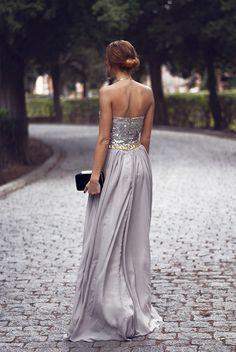Sparkly silverr dress