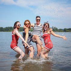 One-piece unisex swimwear XS to plus-size, American made. Tomboy swimsuits.
