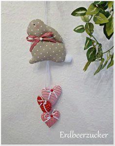 Hasen-Herzen-Girlande ♥ Häschen ♥ Ostern ♥ zum Tilda-, Shabby-, Landhaus-Stil