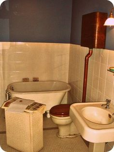 "1940's bathroom as seen in the movie ""A Christmas Story"""