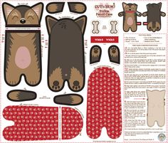 Yorkie_Pencil_Case fabric by woodmouse