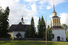Church of Nurmo and its free-standing bell tower Place Of Worship, Tower, Places, Free, Rook, Computer Case, Lugares, Building