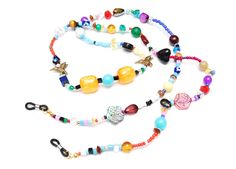 RandomJane colorful beaded hippie style glasses chain made in Vienna Beaded Jewelry, Beaded Bracelets, Hippie Style, Bracelet Making, Vienna, Chains, Eyeglasses, Colorful, How To Make