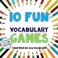 Vocabulary retention can be difficult for many students, but these fun games cater to multiple learning styles for long-lasting language learning.  Get kids up and moving with these vocab games that work for ANY word list.
