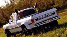 1993 Dodge Cummins Diesel -Cowboy Cadillac instead of Cummins Girl First Gen Cummins, Cummins Girl, Lifted Cummins, Dodge Cummins, Dodge Diesel Trucks, Cummins Diesel, Lowered Trucks, Lifted Trucks, Cool Trucks