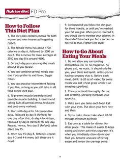 Fighter Diet Pro - Fat loss Plan