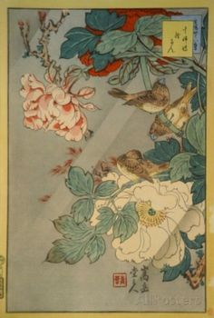 Genga magpie on viburnum branch japan muromachi period 1392 jushimai birds and paeony prints by sugakudo at allposters chinese art birdsart sciox Gallery
