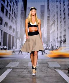 The DKNY Spring 2013 collection is modeled during Fashion Week in New York
