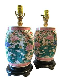 Antique Chinese Porcelain Lamps - Pair on Chairish.com