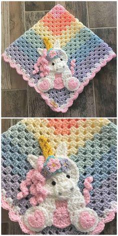 Unicorn Crochet Pattern Ideas You'll Love - crochet , Unicorn Crochet Pattern Ideas You'll Love The Cutest Collection Of Unicorn Crochet Patterns uncinetto. Crochet Motifs, Afghan Crochet Patterns, Applique Patterns, Crochet Stitches, Knitting Patterns, Baby Patterns, Crochet Appliques, Baby Blanket Patterns, Crochet Unicorn Pattern