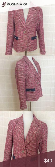 Tweed Blazer with Denim Accents Gently worn tweed blazer with denim accents. Liz Claiborne Jackets & Coats Blazers